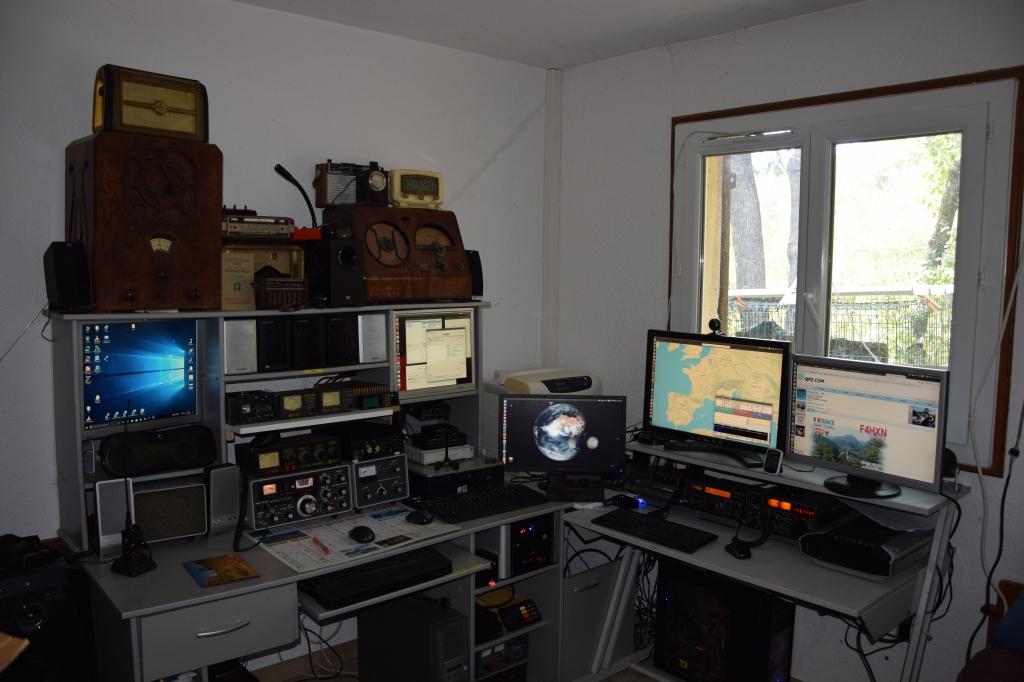 La station informatique et radioamateur
